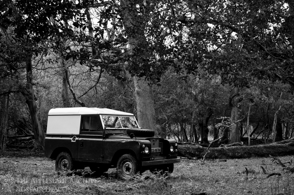 Richard Deacon's Land Rover that is used to search for ponies out on forest, Pinnick Wood, New Forest, Hampshire, 11th May 2013