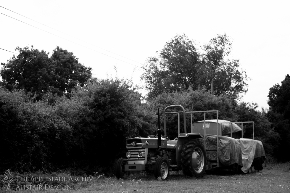 Richard Deacon's tractor, Linwood, New Forest, Hampshire, 17th June 2013