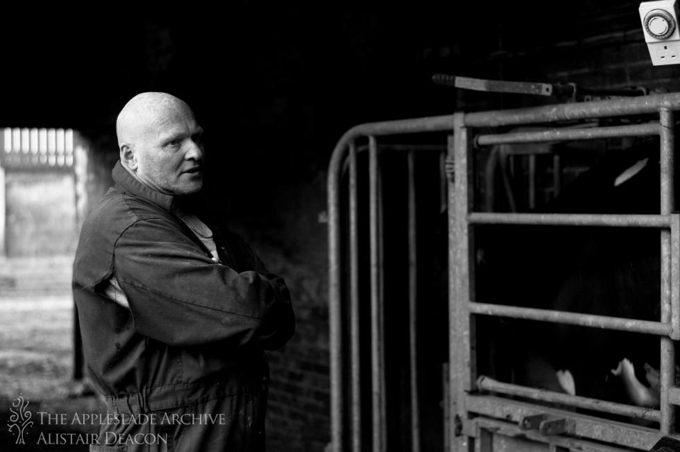 Vince Small, a farm labourer at Bassets Farm, Basingstoke, Hampshire, 7th June 2013