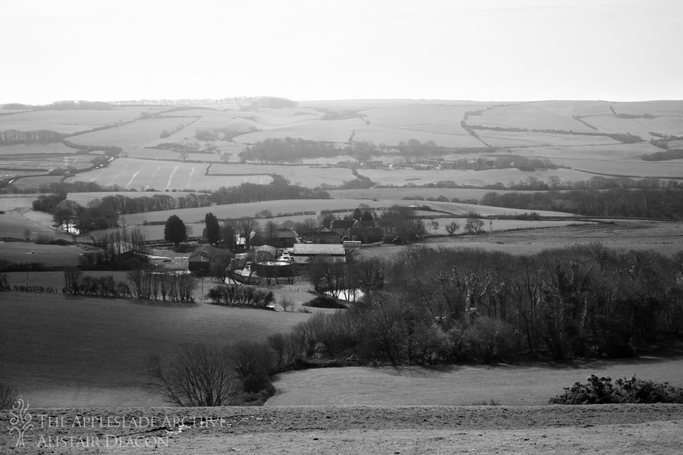 A view towards Barnston Farm, Bradle, Purbeck, Dorset, 4th March 2014