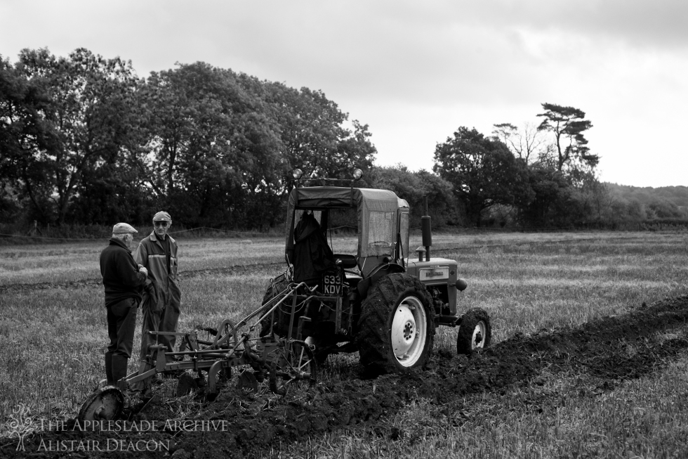 Competetors at a ploughing match, Charford Manor Farm, Nr. Breamore, New Forest, Hampshire, October 2013