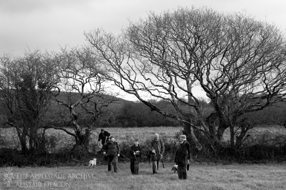 Heading for lunch after the morning's shooting, St. Enoder, Cornwall, January 2015